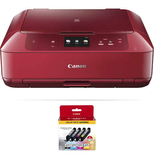 Canon PIXMA MG7720 Wireless All-in-One Inkjet Printer with 4-Cartridge Ink Set Kit (Red)