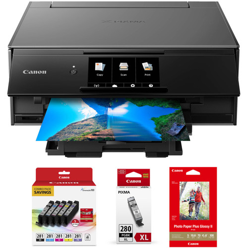 Canon PIXMA TS9120 Wireless All-in-One Inkjet Printer with Extra Ink Kit (Gray)