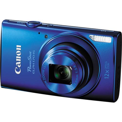 Canon PowerShot ELPH 170 IS Digital Camera Deluxe Kit (Blue)