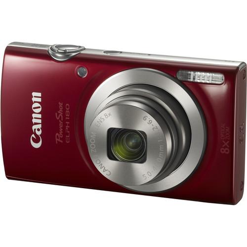 Canon PowerShot ELPH 180 Digital Camera Deluxe Kit (Red)