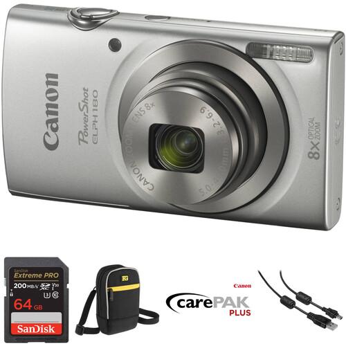 Canon PowerShot ELPH 180 Digital Camera Deluxe Kit (Silver)