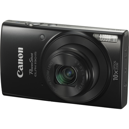 Canon PowerShot ELPH 190 IS Digital Camera Deluxe Kit (Black)