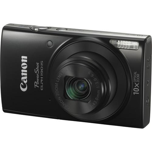 Canon PowerShot ELPH 190 IS Digital Camera Deluxe Kit (Black)