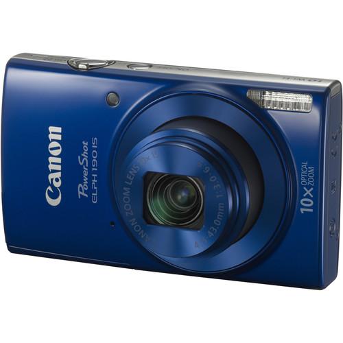 Canon PowerShot ELPH 190 IS Digital Camera Deluxe Kit (Blue)
