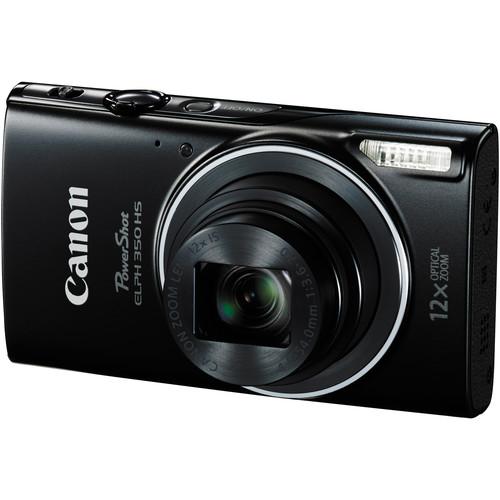 Canon PowerShot ELPH 350 HS Digital Camera Basic Kit (Black)