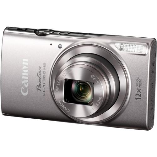 Canon PowerShot ELPH 360 HS Digital Camera Deluxe Kit (Silver)