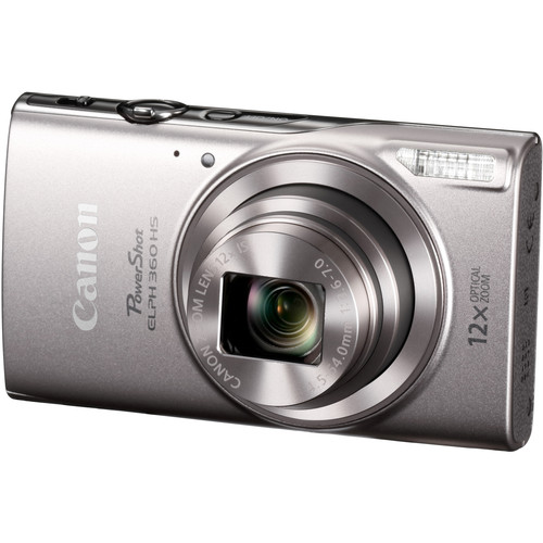 Canon PowerShot ELPH 360 HS Digital Camera with Free Accessory Kit (Silver)