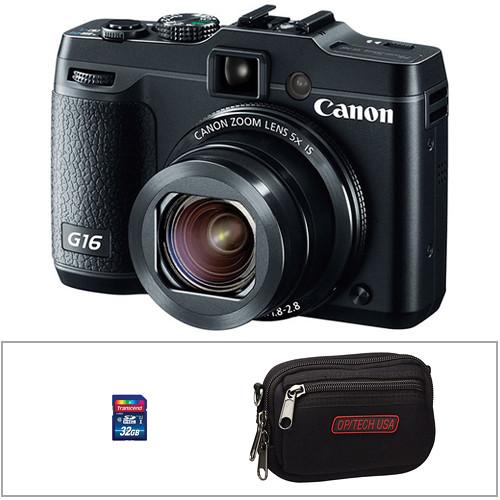 Canon PowerShot G16 Digital Camera with Accessory Kit