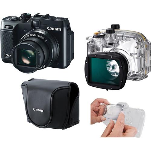 Canon PowerShot G1 X Digital Camera and Underwater Housing Kit