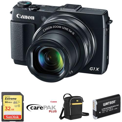 Canon PowerShot G1 X Mark II Digital Camera Deluxe Kit