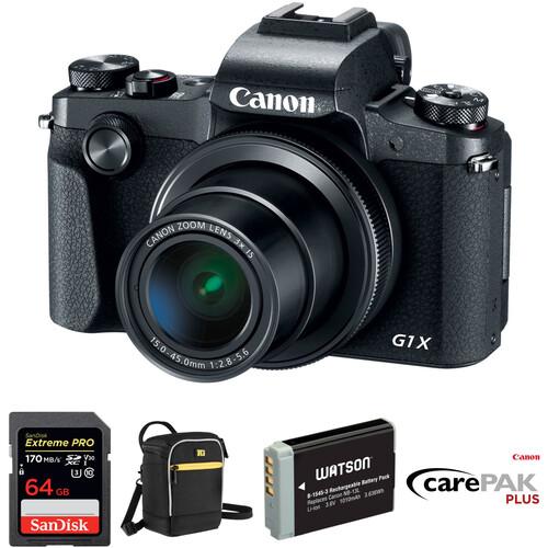 Canon PowerShot G1 X Mark III Digital Camera Deluxe Kit