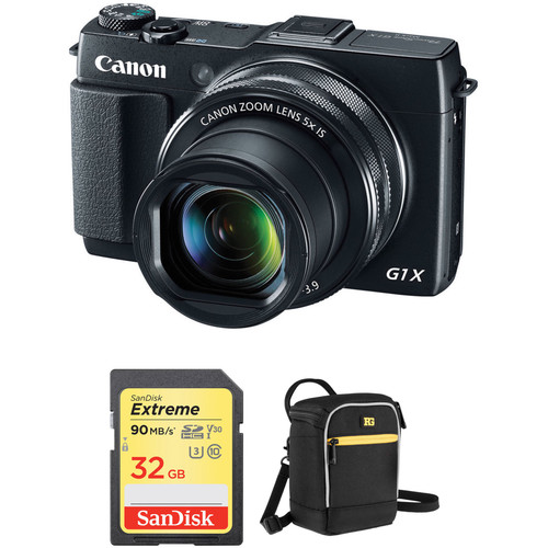 Canon PowerShot G1 X Mark II Digital Camera with Free Accessory Kit