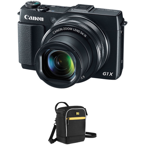 Canon PowerShot G1 X Mark II Digital Camera with Pouch Kit