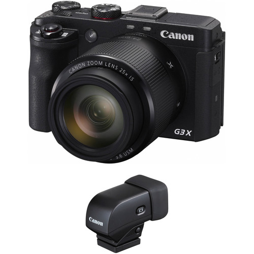 Canon PowerShot G3 X Digital Camera with EVF-DC1 Electronic Viewfinder