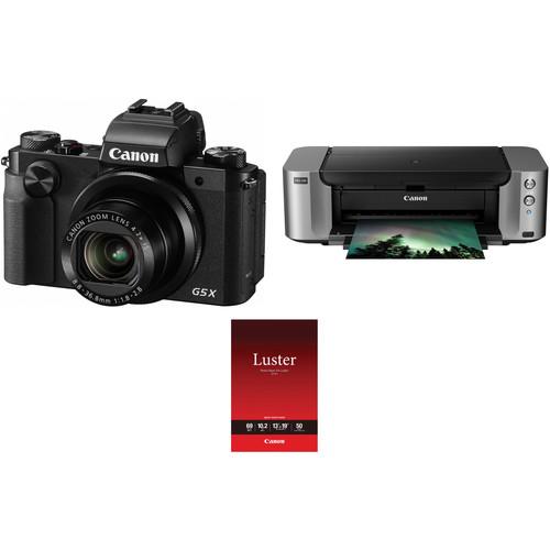 Canon PowerShot G5 X Digital Camera with PIXMA PRO-100 Inkjet Printer Kit