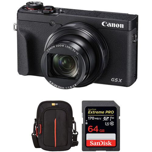 Canon PowerShot G5X Mark II Digital Camera with Accessories Kit
