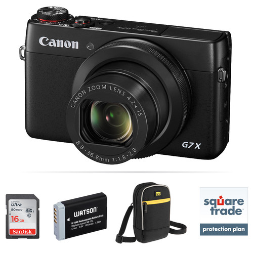 Canon PowerShot G7 X Digital Camera Deluxe Kit