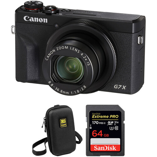 Canon PowerShot G7 X Mark III Digital Camera with Accessories Kit (Black)