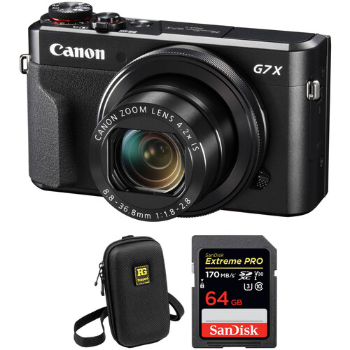 Canon PowerShot G7 X Mark II Digital Camera with Free Accessory Kit