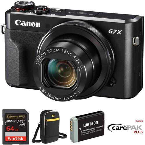 Canon PowerShot G7 X Mark II Digital Camera Deluxe Kit