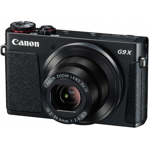 Canon PowerShot G9 X Digital Camera Deluxe Kit (Black)
