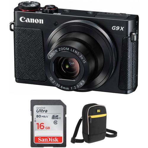 Canon PowerShot G9 X Digital Camera Accessory Kit (Black)