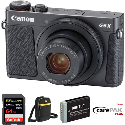 Canon PowerShot G9 X Mark II Digital Camera Deluxe Kit (Black)