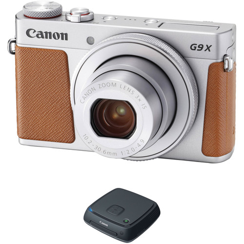 Canon PowerShot G9 X Mark II Digital Camera with CS100 Kit (Silver)