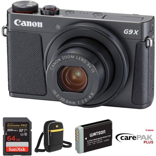 Canon PowerShot G9 X Mark II Digital Camera Deluxe Kit (Black)