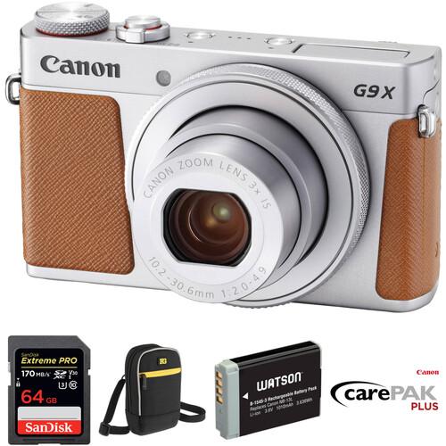 Canon PowerShot G9 X Mark II Digital Camera Deluxe Kit (Silver)