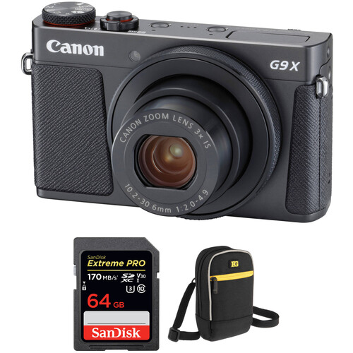 Canon PowerShot G9 X Mark II Digital Camera with Free Accessory Kit (Black)
