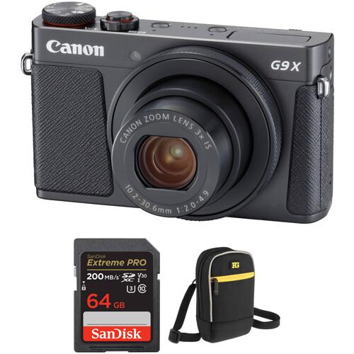 Canon PowerShot G9 X Mark II Digital Camera with Free Accessory Kit (Black)