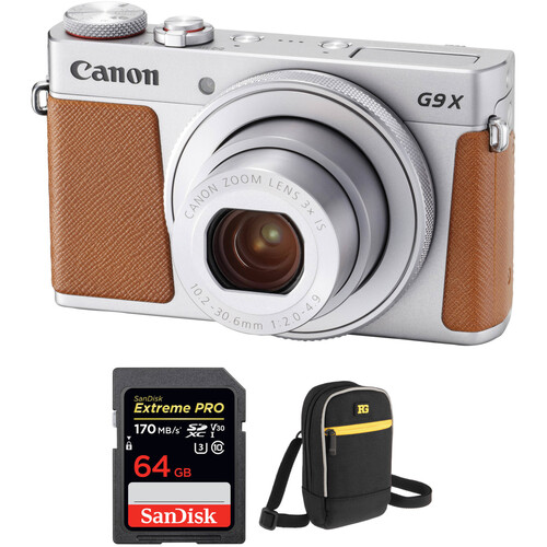 Canon PowerShot G9 X Mark II Digital Camera with Free Accessory Kit (Silver)