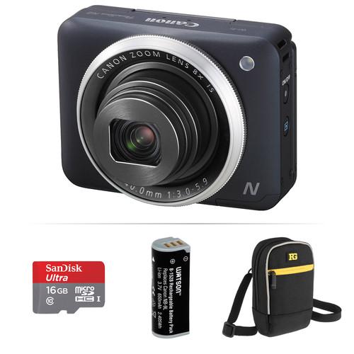 Canon PowerShot N2 Digital Camera Basic Accessory Kit (Black)