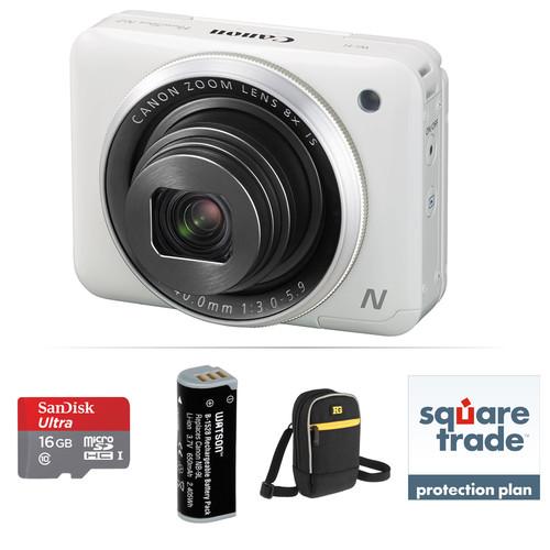 Canon PowerShot N2 Digital Camera Deluxe Accessory Kit (White)