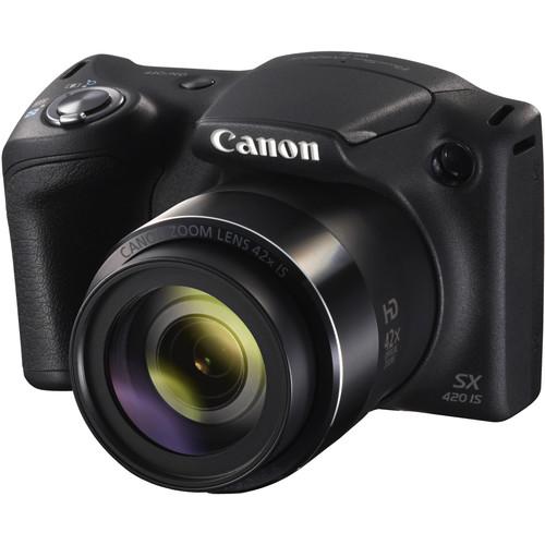 Canon PowerShot SX420 IS Digital Camera Basic Kit (Black)