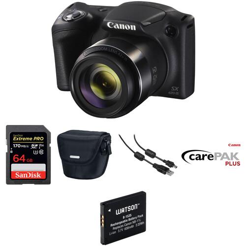 Canon PowerShot SX420 IS Digital Camera Deluxe Kit (Black)