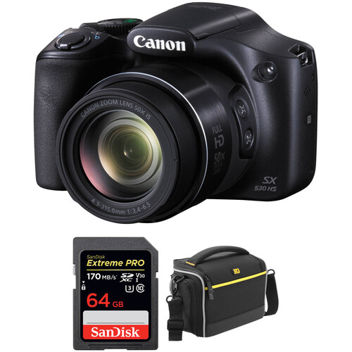 Canon PowerShot SX530 HS Digital Camera with Accessories Kit