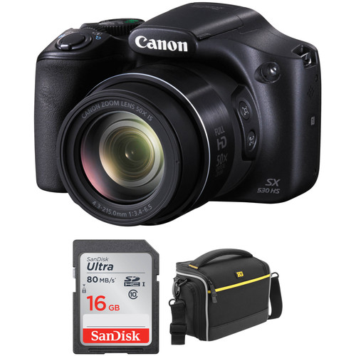 Canon PowerShot SX530 HS Digital Camera Basic Kit (Refurbished)