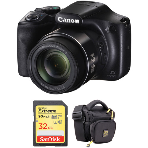 Canon PowerShot SX540 HS Digital Camera with Free Accessory Kit