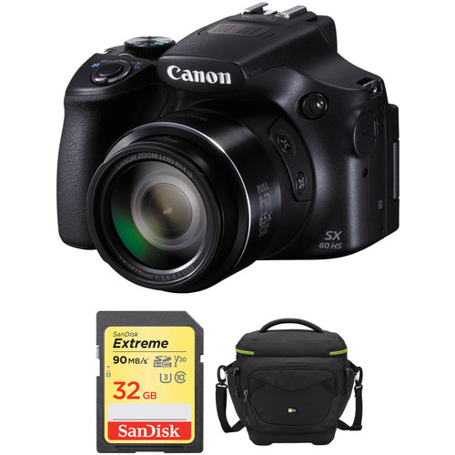 Canon PowerShot SX60 HS Digital Camera Basic Accessory Kit