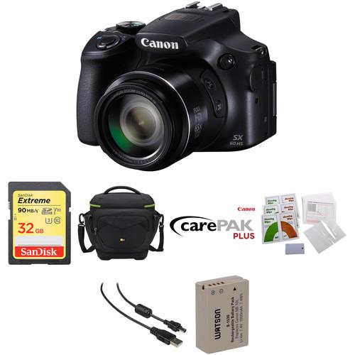 Canon PowerShot SX60 HS Digital Camera Deluxe Kit