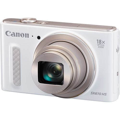 Canon PowerShot SX610 HS Digital Camera Basic Kit (White)
