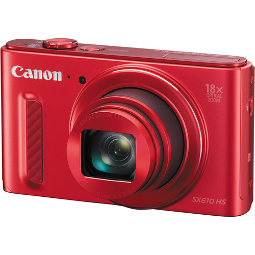Canon PowerShot SX610 HS Digital Camera Basic Kit (Red)