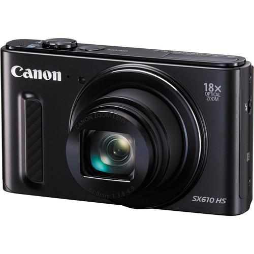 Canon PowerShot SX610 HS Digital Camera Basic Kit (Black)