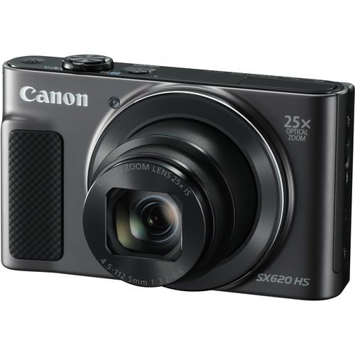 Canon PowerShot SX620 HS Digital Camera with Free Accessory Kit (Black)