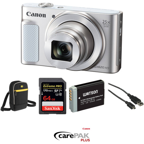 Canon PowerShot SX620 HS Digital Camera Deluxe Kit (Silver)