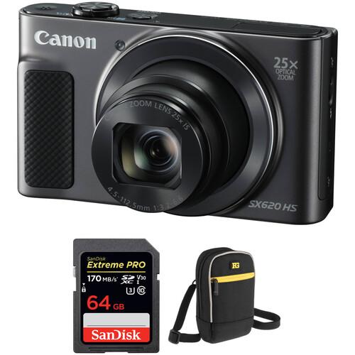 Canon PowerShot SX620 HS Digital Camera with Accessory Kit (Black)