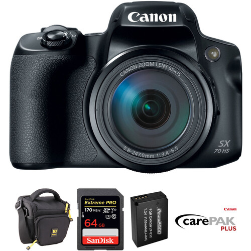 Canon PowerShot SX70 HS Digital Camera Deluxe Kit