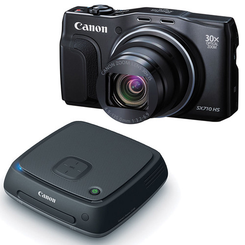 Canon PowerShot SX710 HS Digital Camera with Connect Station Kit (Black)